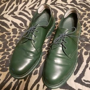 Dr Martens green 3 eye leather oxford shoe sz 13